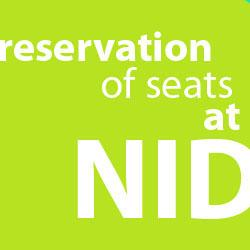 NID 2017 - Reservation of Seats at NID