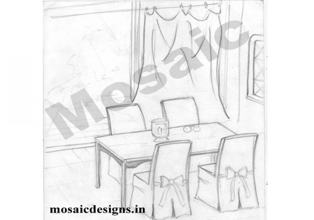 Draw Dining Room Draw Dining Room Perspective Drawing On Sich