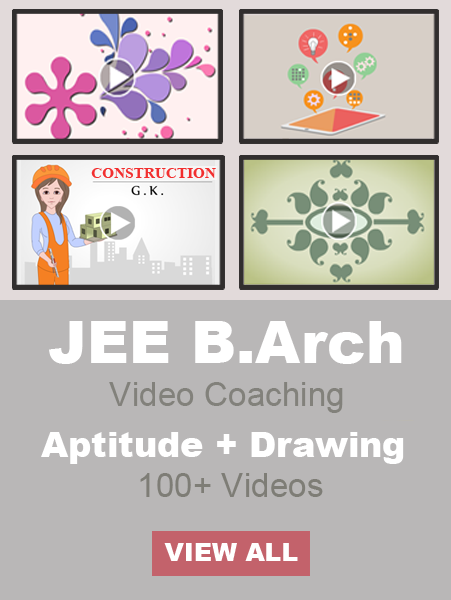 Jee Mains B.Arch Paper-2 Aptitude + Drawing Test
